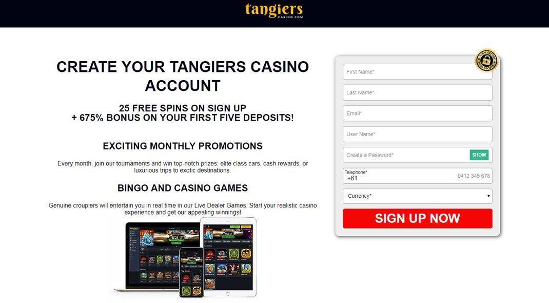 Tangiers online casino test