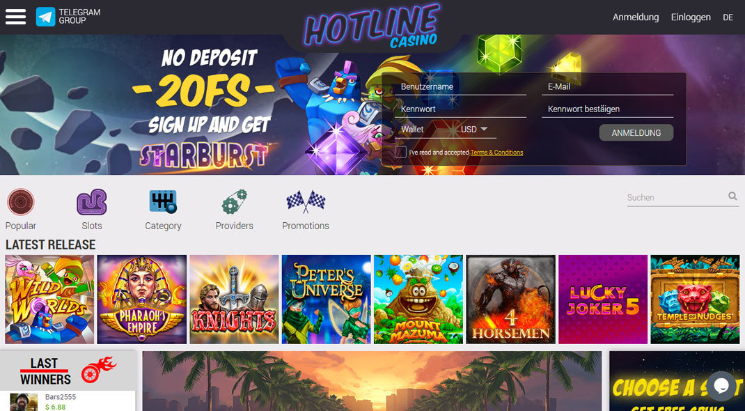 Hotline Online Casino test