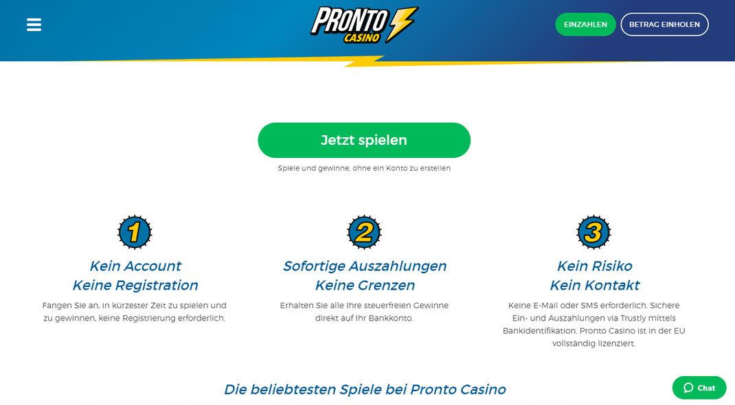 Pronto Online Casino test