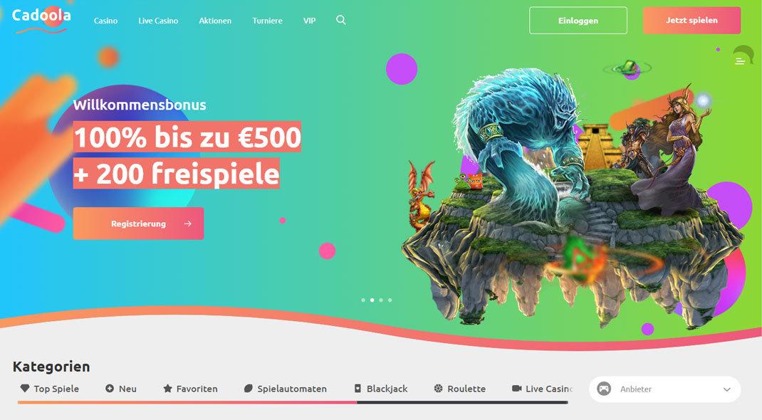 Cadoola Online Casino test