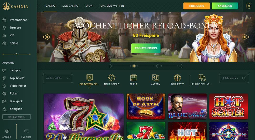 Casinia Online Casino test