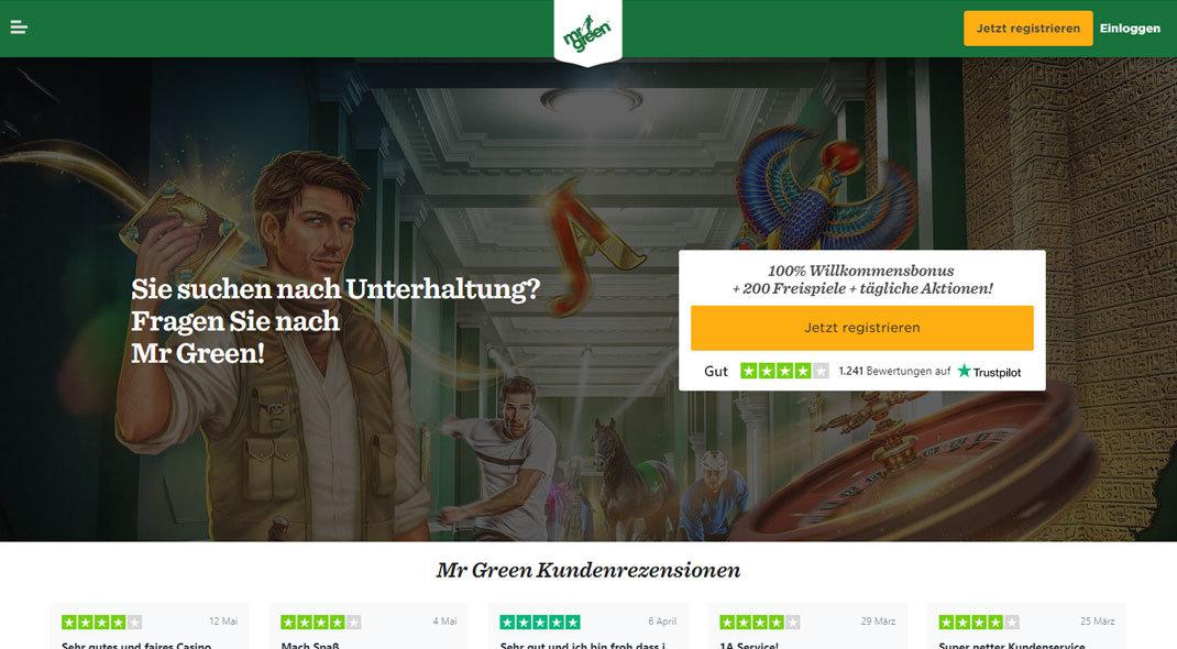 Mr Green Online Casino test