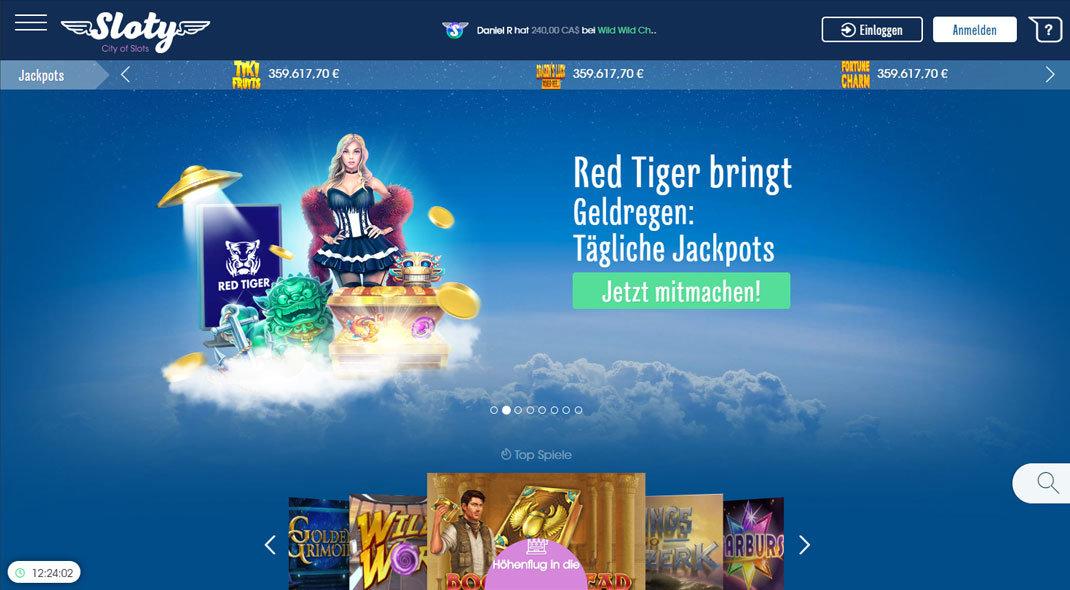 Sloty Online Casino test