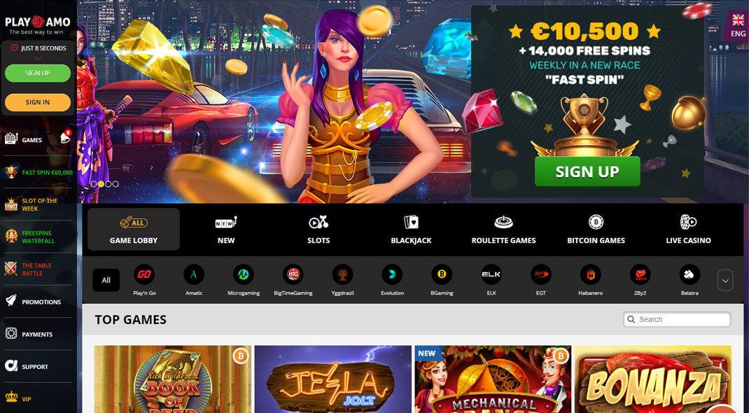 Playamo Online Casino test