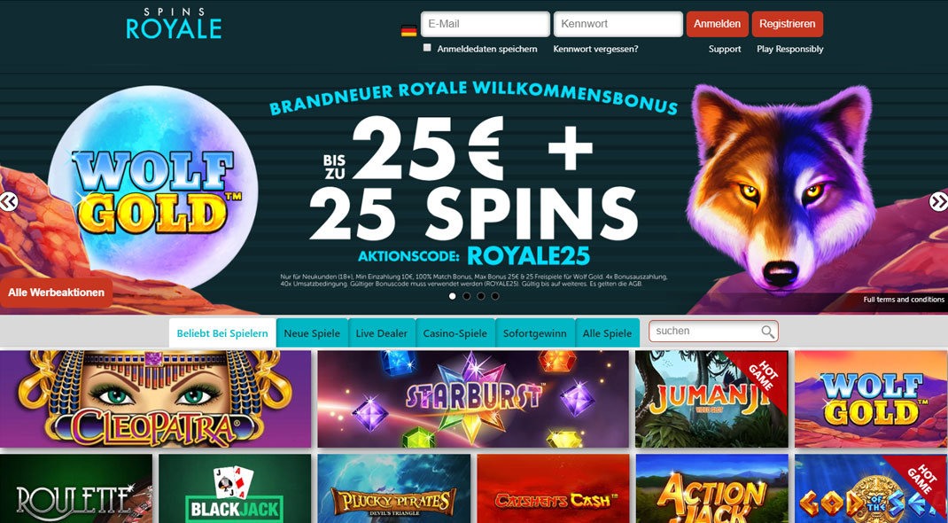 Spins Royale Online Casino test