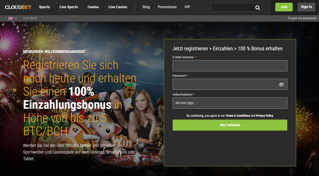 Cloudbet Online Casino test