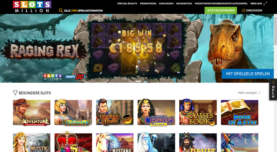 SlotsMillion Online Casino test