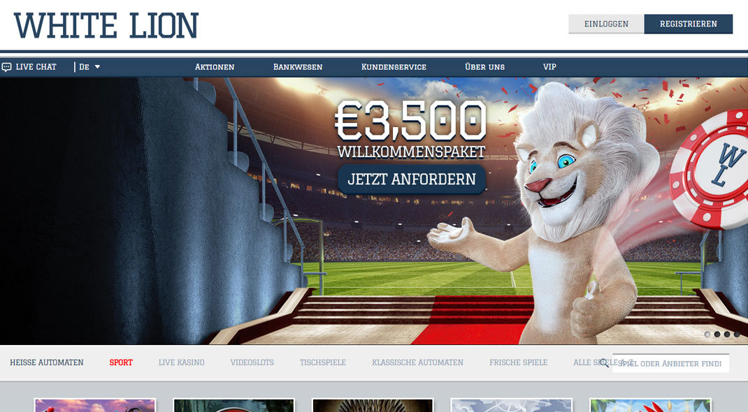 White Lion Online Casino test