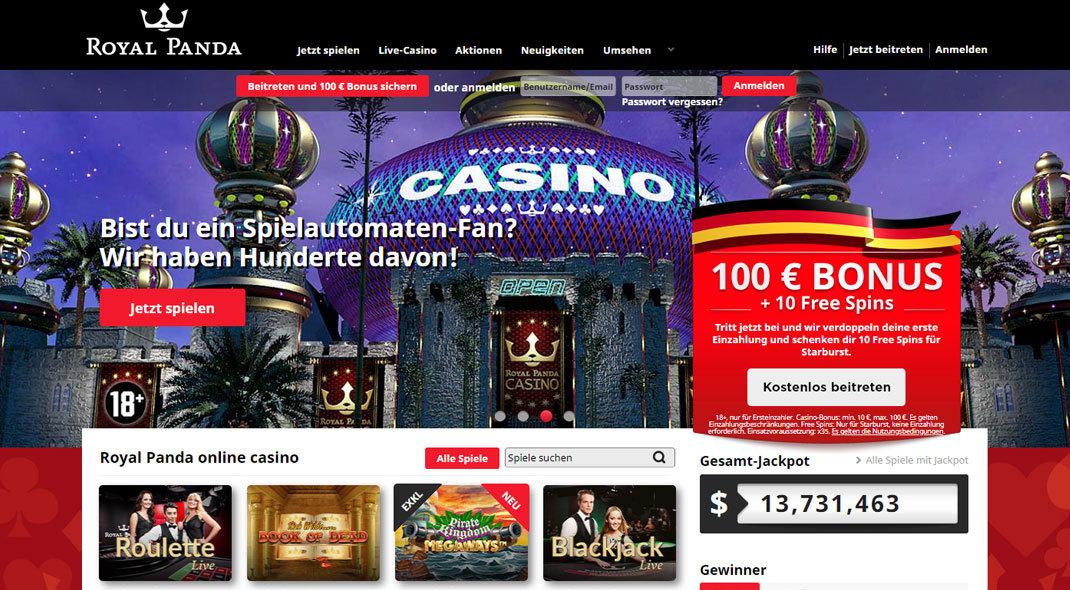 Royal Panda Online Casino test