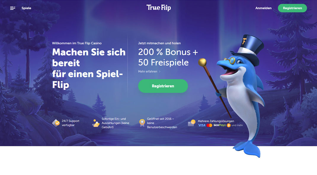True Flip Online Casino test