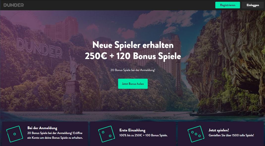 Dunder Online Casino test