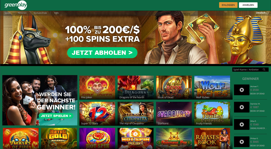 Greenplay Online Casino test