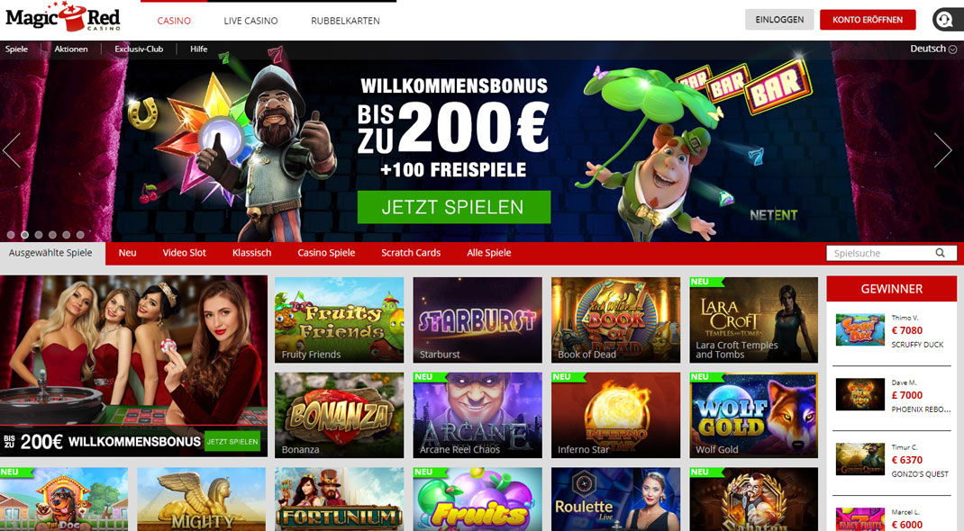 Magic Red Online Casino test