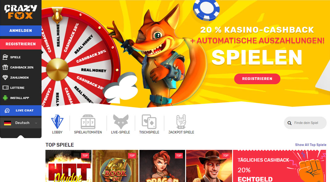 Crazy Fox Online Casino test