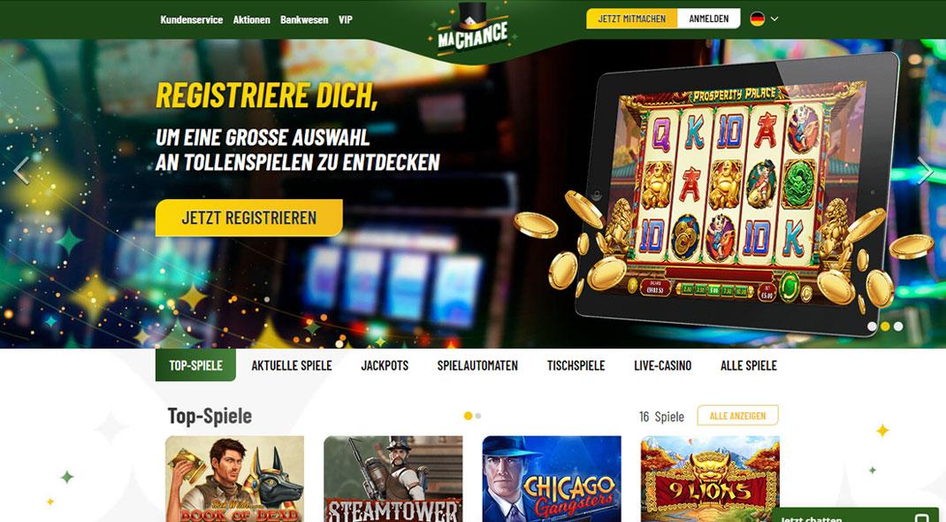 MaChance Online Casino test