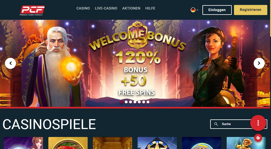 PCF Online Casino test