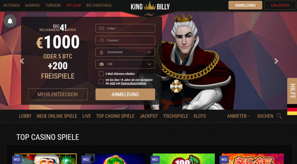 Kingbilly Casino Test