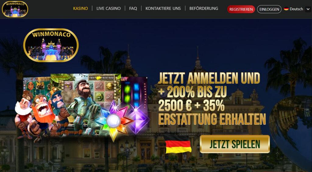 WinMonaco Casino Angebot