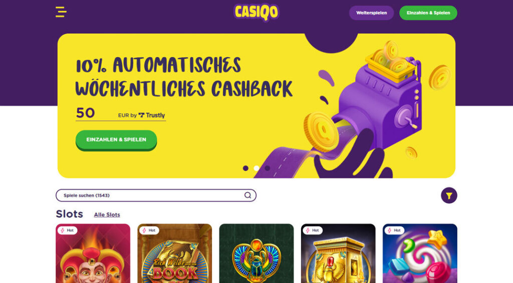 Casiqo Online Casino Angebote