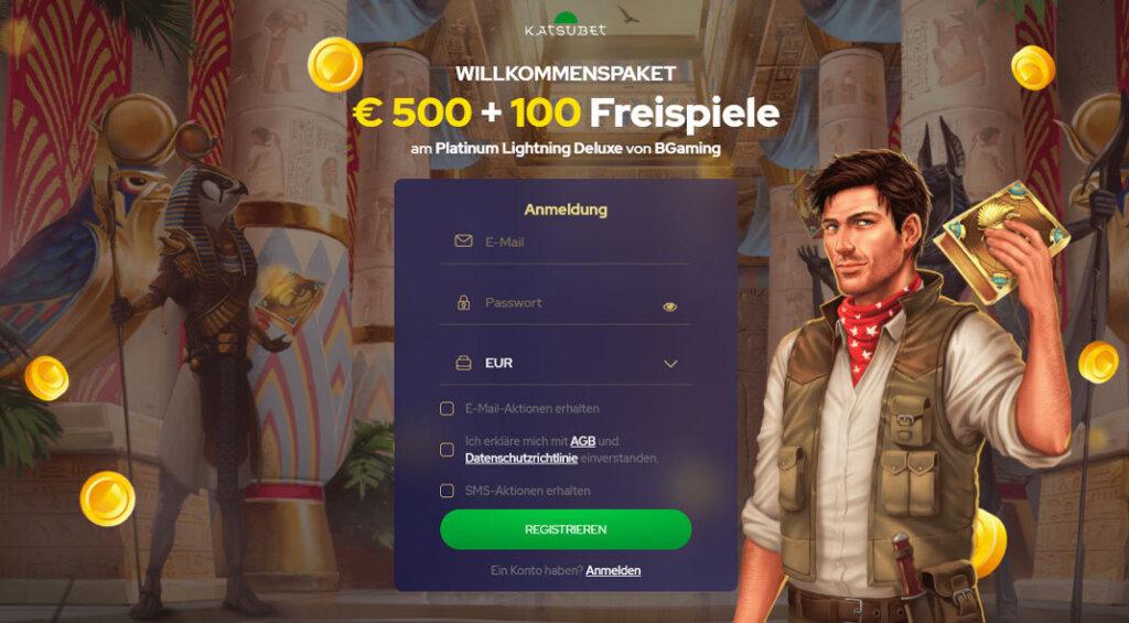 Katsubet Online Casino Angebot
