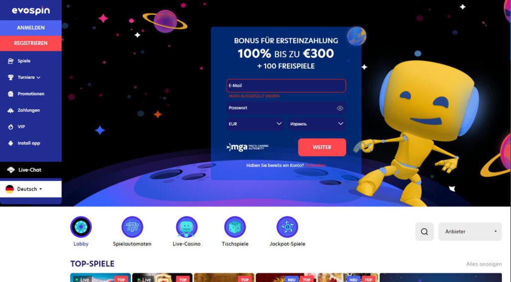 Evospin Casino Angebot