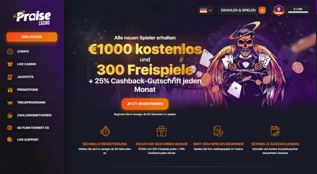 Praise Casino Bonus Angebot